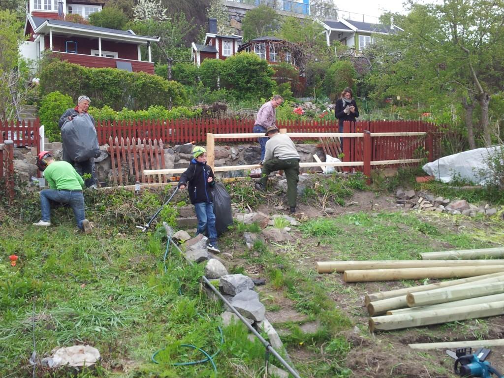 Slänt- och staketarbete